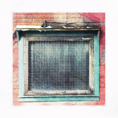 Photograph - Old Window by Priska Wettstein