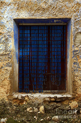 Photograph - Old Window With Blue Beaded Courtain by RicardMN Photography