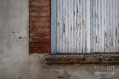 Old Window With Closed Shutters Print by Elena Elisseeva