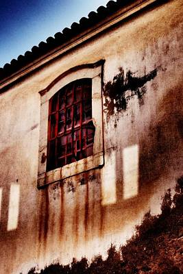 Photograph - Old Window With Iron Bars by Dora Hathazi Mendes