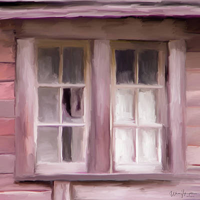 Painting - Old Windows 01 by Wally Hampton