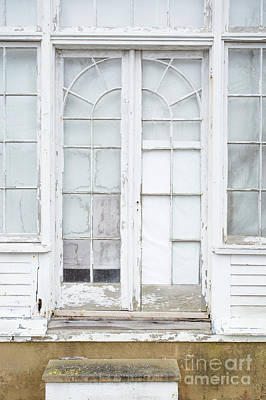 Photograph - Old Windows And Glass Doorway by Edward Fielding