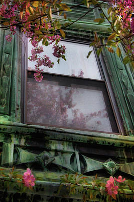 Photograph - Old Windows - Back Bay Boston by Joann Vitali