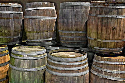 Old Wine Barrels Art Print