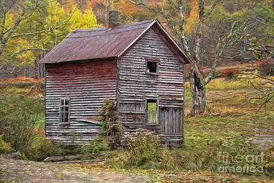 Tin Roof Painting - Old With Character by Deborah Benoit