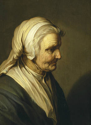 Old Dutch Painting - Old Woman by Abraham Bloemaert