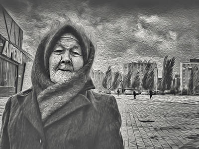 Photograph - Old Woman And The Face Of Wind by John Williams