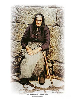 Digital Art - Old Woman Of Spain by Kenneth De Tore