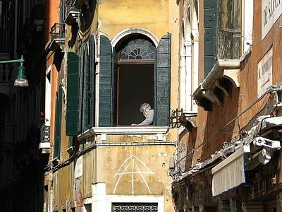 Photograph - Old Woman Of Venice by Diane Height