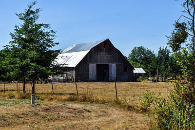 Photograph - Old Wood Barn With Steel Roof by Tom Cochran