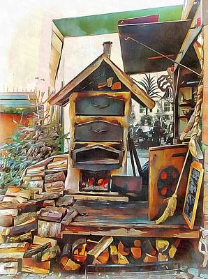 Photograph - Old Wood Burner At Market Copenhagen by Dorothy Berry-Lound