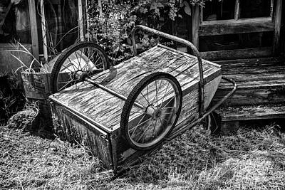 Photograph - Old Wood Cart by Paul Seymour