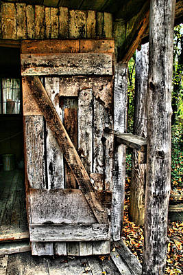 Old Wood Door 1 Art Print by Dennis Sullivan