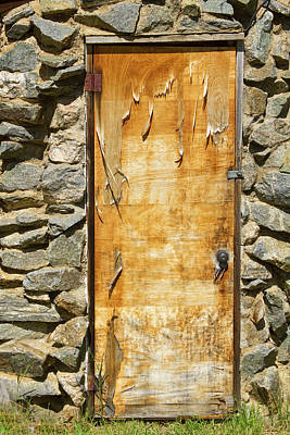 Photograph - Old Wood Door And Stone - Vertical  by James BO  Insogna