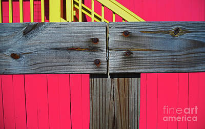Photograph - Old Wood Pinked Out by George D Gordon III