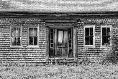 Photograph - Old Wood Shingle House Black And White Photograph by Keith Webber Jr