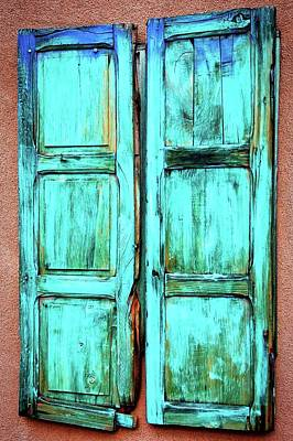 Photograph - Old Wood Shutters, Santa Fe, New Mexico by Flying Z Photography by Zayne Diamond