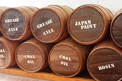 Photograph - Old Wood Storage Barrels by Sally Weigand