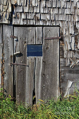 Photograph - Old Wooden Barn Door Andover New Hampshire by Edward Fielding