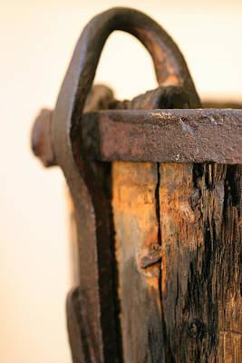 Old Wooden Barrel At The Ore Mine Sweden Art Print by Dagmar Batyahav