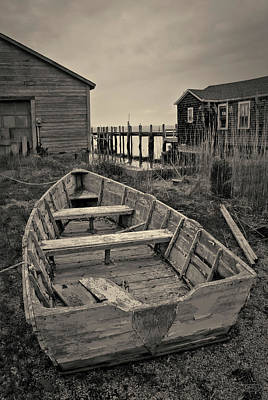 Photograph - Old Wooden Boat Toned by David Gordon