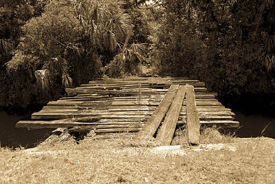 Photograph - Old Wooden Bridge by Christopher L Thomley