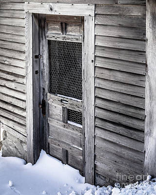 Photograph - Old Wooden Chicken Coop On A Farm by Edward Fielding