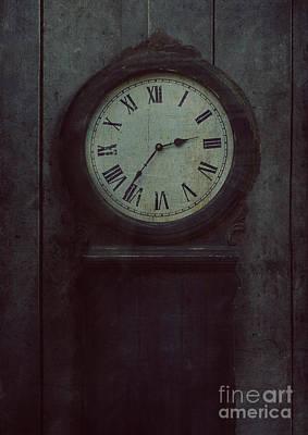 Old Wooden Clock Art Print