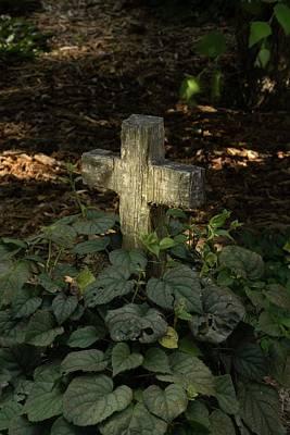 Photograph - Old Wooden Cross 2 by Douglas Barnett
