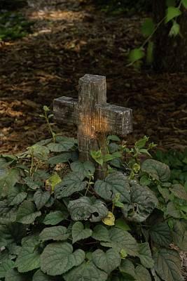 Photograph - Old Wooden Cross by Douglas Barnett