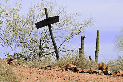 Photograph - Old Wooden Cross by Grace Dillon