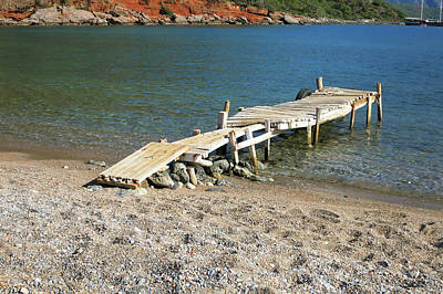 Wooden Platform Photograph - Old Wooden Dock by Phyllis Taylor