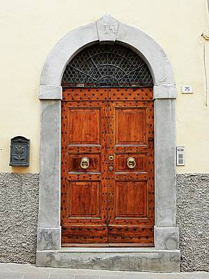 Photograph - Old Wooden Door Castiglione Del Lago by Dorothy Berry-Lound
