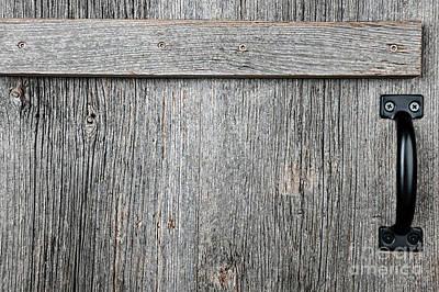 Panel Photograph - Old Wooden Door Detail by Elena Elisseeva