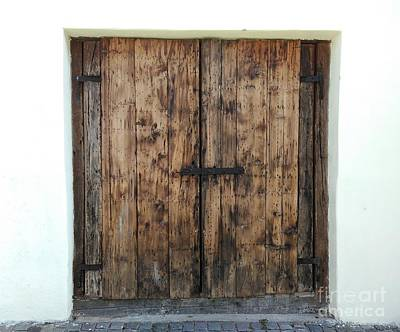 Photograph - Old Wooden Door  by Erika H