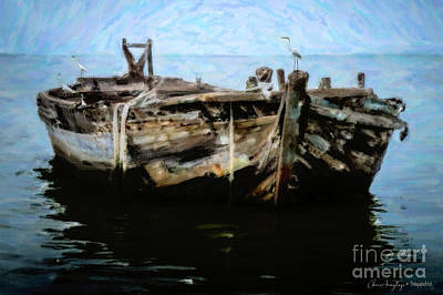 Digital Art - Old Wooden Fishing Boat by Chris Armytage