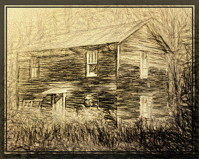 Digital Art - Old Wooden House by Rusty R Smith
