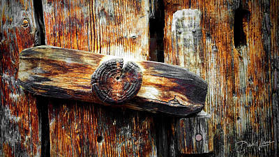 Photograph - Old Wooden Latch by David A Lane
