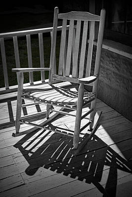 Photograph - Old Wooden Rocking Chair And Shadows by Randall Nyhof