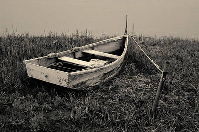 Photograph - Old Wooden Rowboat II Toned by David Gordon