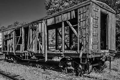 Old Wooden Train Car Art Print