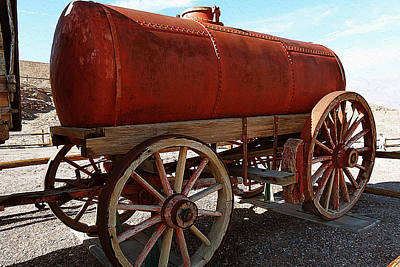 Old Wooden Wagon Painting - Old Wooden Transportation by Iguanna Espinosa