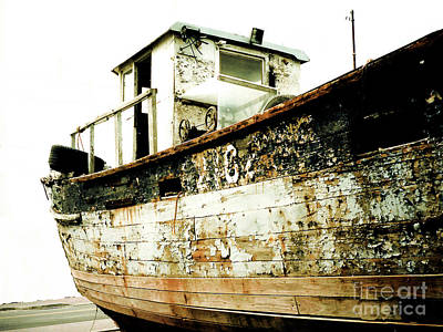 Photograph - Old Wooden Workboat No. 2182, Gloucester, Ma by Merton Allen