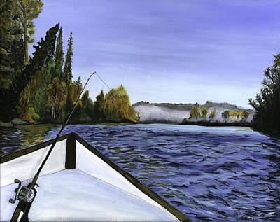 Painting - Old Woodie Driftboat by Sara Stevenson