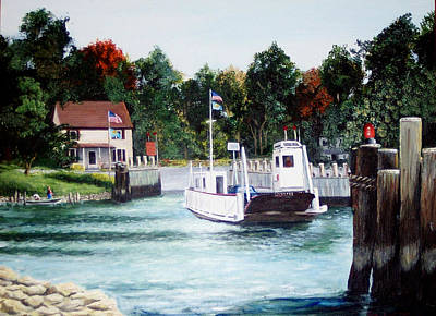 Painting - Old Woodland Ferry by Ronald Lightcap