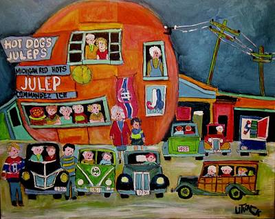 Painting - Old Woody At The Orange Julep by Michael Litvack
