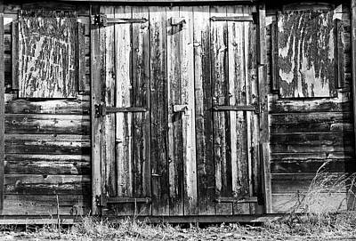 Photograph - Old Work Shed Bw by Mary Bedy