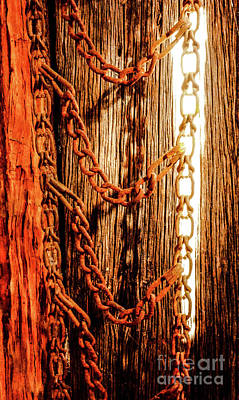Photograph - Retired Farm Working Chains by Lexa Harpell