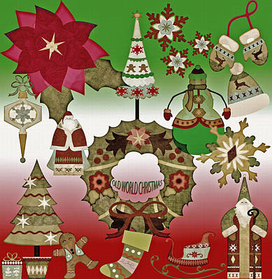 Days Go By Digital Art - Old World Christmas - Collage by Steve Ohlsen