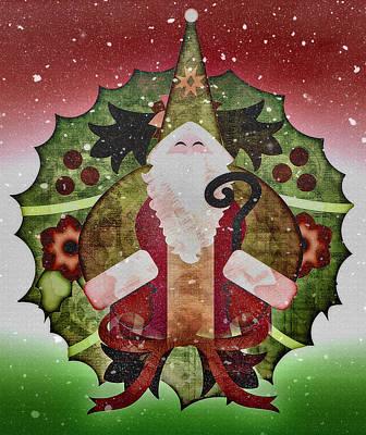 Days Go By Digital Art - Old World Christmas With Snowfall by Steve Ohlsen
